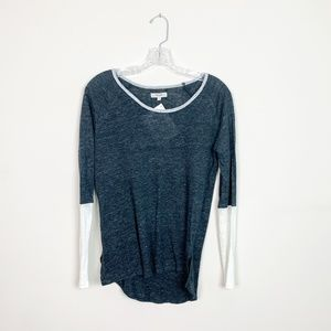 Madewell | colorblock long sleeve t-shirt blue XS
